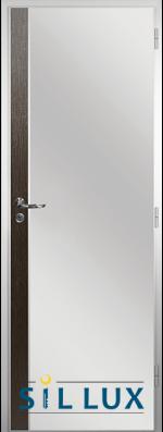 Алуминиева врата за баня Sil Lux, цвят Златен кестен Лайсна