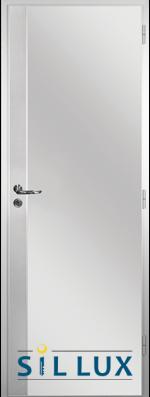 Алуминиева врата за баня Sil Lux, цвят Райски орех Метал